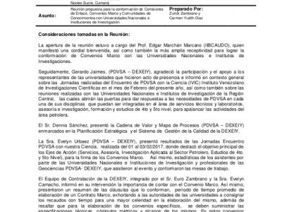 Comisión de enlace PDVSA-Universidades Región Oriental
